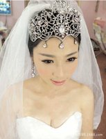 Wholesale Wedding Accessories Bride Bridal Hair Crowns Tiaras Headpieces Forehead Fascinators Jewelry Vintage Wedding Head Pieces Headwear