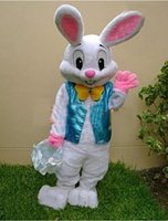 Wholesale Hot Cakes Professional Easter Bunny Mascot costume Bugs Rabbit Hare Adult
