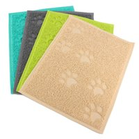 Wholesale 1Pcs Square PVC Placemat Dog Puppy Dish Bowl Food Water Wipe Clean Mat Product For Care Pet Supplies