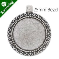 antique silver trays - 25mm antique silver plated pendant tray pendant bezel blank settings lead and nickle free sold by C3867