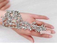 Wholesale Designer new elegant wedding bracelets Bridal party prom Jewelry diamond bracelet with ring wristband Bracelet yzs168