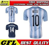 football shirt - Free Ship Argentina soccer Jerseys DI MARIA Top Thai Quality Argentina MESSI KUN AGUERO Survetement Football Jerseys Shirt