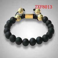 best drills - 2015 new Nialaya Pure natural stone Alloy point drill Bracelets Shamballa Strip alloy Weave Best sell Popular Beaded Bracelet