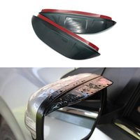 accord mirror - 2 Set Rearview Mirror Car Eyebrow Shiled Flexible Blade Cover Protector PVC Accessories For Honda th Accord
