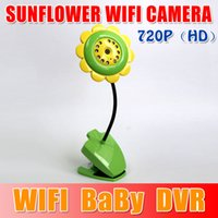 Wholesale Sunflower WIFI Camera P CCTV CMOS Baby Camera Baby Monitor Mini Camcorder Support For Android Smartphone For iphone sexy girls