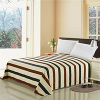 Wholesale of cotton bedding sheet stripes and pots flowers grid line beds cover twin queen king size printing bed sheets
