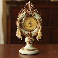 antique mantle clocks - Victorian Style Royal Vinage Look Rose Handpainted Resin table clock Rose table clock Royal Mantle Clock
