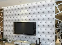 modern sofa leather - 10 meter Faux leather soft bag d wallpaper PVC white bedside sofa tv background wall wallpaper papel de parede