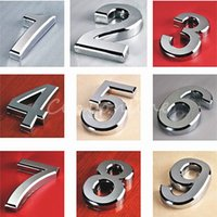 hotel lock - 2015 New Silver House Hotel Door Address Plaque Number Digits Sticker Plate Sign Size x30x6mm Convinient Room Gate Number