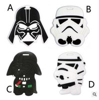 Wholesale Newest Star Wars Cartoon Luggage Tags ID Tags Labels Designs Checked Travel Silicone luggage tags Suitcase Checked Box Tag