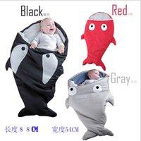 Cheap Wholesale INS Babys Sleeping Bags Clothes Baby Pajamas Cartoon Shark Cotton Sleeping-bags Multi-function Lovely Babys Sleeping Bag