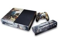 al por mayor xbox 2pcs-Etiqueta engomada libre de la piel de la etiqueta del juego de Titanfall del envío para XBOX ONE Console + 2Pcs Etiquetas engomadas para el regulador de XBOX UNO