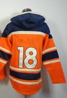 Ice Hockey authentic peyton manning broncos jersey - Broncos Peyton Manning Pullover Hooded Sweatshirt Ice Winter Jersey Hockey Jerseys Authentic Stitched Mix Order Size
