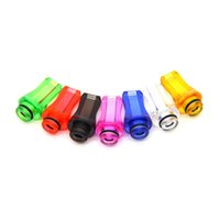 Wholesale Good quality Stylish Drip Tips Flat Plastic Mouth Mouthpiece Transparent Colorful Drip Tip For Atomizer Vaporizer