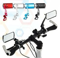 Wholesale Bike rear view mirror classic cycling rectangle mirror reflector handlebar end rearview mirror bicycle parts