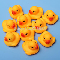 Cheap Christmas gifts Free Shipping 10Pcs Bag Baby Kid Cute Bath Rubber Ducks Children Squeaky Ducky Water Play Toy