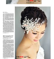 Wholesale 2016 hot sale new arrival Bride hair Accessories Manual snow crystal beads hair accessories