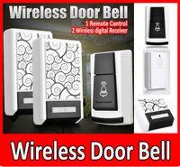 Wholesale wireless Doorbells Wireless Door Bell Remote Control Wireless digital Receiver Doorbell Chimes Songs Waterproof Wireless Doorbell