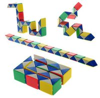 Wholesale 5Pcs lotPopular Intelligence Assembly Puzzle Toy For Bady Educational Intelligence D Assembly Puzzle Magic Toy Twist Snake Cube