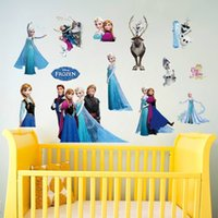 Wholesale Frozen Elsa Anna Wall Stickers Decals Removable Art Decor Home Kids Room sticker