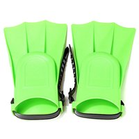 Cheap Green Stylish Soft Adjustable Flippers Fins For Toddlers Learn Swimming kid Children in Swimming Pool Beach For Summer Holiday