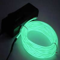 Wholesale 1pcs Hot Worldwied m Flexible EL Wire Rope Neon Light Glow With Controller For Party Dance Car Decor