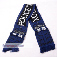 Wholesale Anime Doctor Who Blue Scarves NEW TARDIS Deluxe Double layer Soft Warm Knitted Scarf Gifts Unisex Halloween Cosplay Gifts