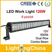 led off road - New Arrival CREE LED Light Bar W High Power LED Work Light Inch Dual Row V k Combo Beam LED Off Road Light