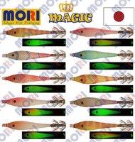 Treble Hooks japan lure - 10pcs pack colours squid jigs hooks cm mori JAPAN double hooks noctilucent luminous body lure bait suttee Wood Shrimp fishing tackle