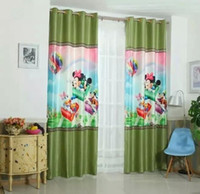 Wholesale 3 d digital printing woven silk children bedroom whole black hot sales top fashion curtain every piece of cm