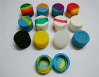 Wholesale FDA approved round ml non stick silicone concentrate container for wax exact BHO silicone oil container