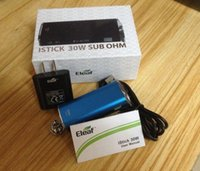Wholesale ecig mods eleaf istick w full kits VW VV E Cigarette Battery With USB cable adaptor VS eleaf istick W Free DHL