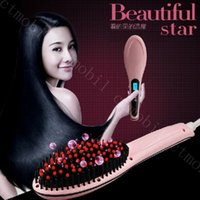 best hair curlers - Best Sell Beautiful Star Pink Straightening hair Irons Straight Hair Styling Tool With LCD Electronic Temperature Controls