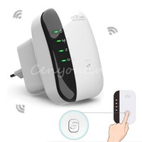 Wholesale EU Plug Wireless N N B G WPS Mbps WiFi Repeater Network for AP Router Range Signal Expander Booster Extend Amplifier