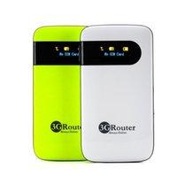 Wholesale 5PCS Unlock G Hotspot Wireless WCDMA Wi Fi G WiFi Router Portable G Wi Fi Modem with SIM Card Slot Mah mobile wifi router