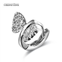 Wholesale CHINGYING New Fashion Jewelry Platinum Plated Clip Earings Bowknot Elegant Charm Cool Statement Direct from Factory JC