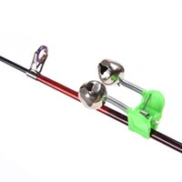 fishing bite alarm - New Arrival cm Outdoor Twin Bells Ring Carp Fishing Rod Clamp Bite Lure Alarm H12285