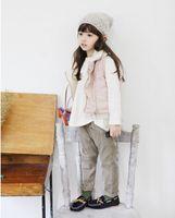 baby slacks - Girls fall children new joker slacks trousers haroun pants zipper baby wool vest vest BH1243
