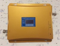 Wholesale Hot Sell set LCD Display Dual Band Repeater Amplifier GSM Repeater Dual Band Signal Repeater Booster Amplifier