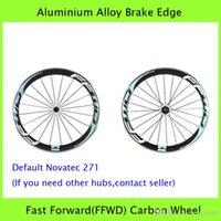 Wholesale Fast Forward FFWD Carbon Road Bicycle Wheels mm Aluminium Alloy Brake Edge C Wheelset Clincher Rim Performance Carbon Wheel Set