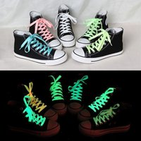 Wholesale 80cm sport luminous shoelace glow in the dark color fluorescent shoelace Athletic Sport flat shoe laces Newest