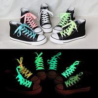 soles - 80cm sport luminous shoelace glow in the dark color fluorescent shoelace Athletic Sport flat shoe laces Newest