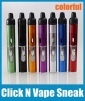Wholesale Colorful Lighter Click N Vape Sneak Herbal Atomizer Smoking Metal Pipe With Built in Wind Proof Torch FJ120