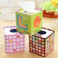 Wholesale European fashion tissue box roll carton creative metal cute car pumping paper box pumping tray