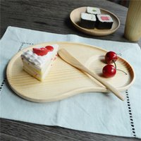 plates - Japanese Wooden Breakfast Plates Wood Pallet Plate tea Time Dishes