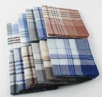 Wholesale 12pcs Cheap handkerchief mens womens cm cotton handkerchief hanky pocket squares super value