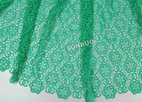soluble fabric - 5 yards plain water soluble lace cord lace fabric African guipure lace fabric for wedding aqua ivory Nigeria green royal blue