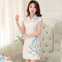 custom made cheongsam - 2015 Custom made Chinese Traditional Cheongsam Dresses Classic Retro Charming Mini Evening Cheap Graduation Dresses Bridesmaid Dresses
