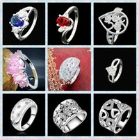 Unisex good quality jewelry - Hot Good Quality new Sterling Silver crystal gem Ring fashion silver Jewelry