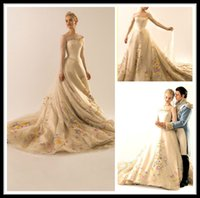 Wholesale Sexy Long Sleeve Pageant Dresses Jewel A Line Embroidery Organza Chapel Train Special Occasion Formal Women Evening Prom Dress Gowns